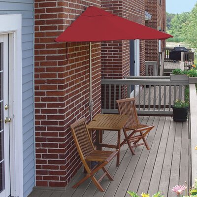 Terrace Mates Villa Standard 5 Piece Dining Set Color: Red Sunbrella