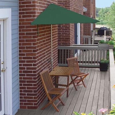 Terrace Mates Villa Standard 5 Piece Dining Set Color: Green Sunbrella