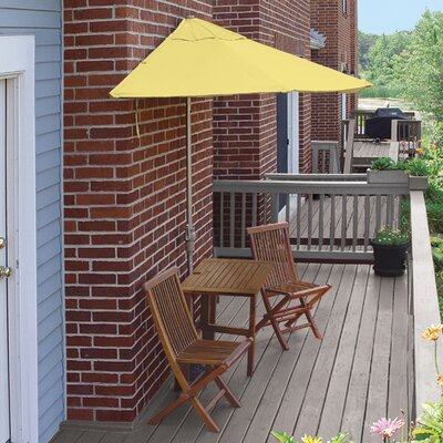 Terrace Mates Villa Standard 5 Piece Dining Set Color: Yellow Sunbrella