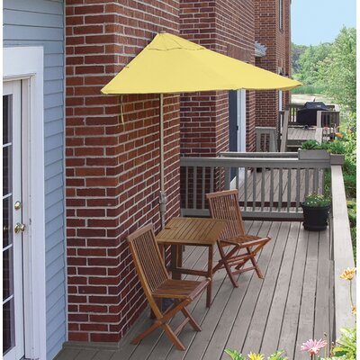 Terrace Mates Villa Deluxe 5 Piece Dining Set Color: Yellow Sunbrella
