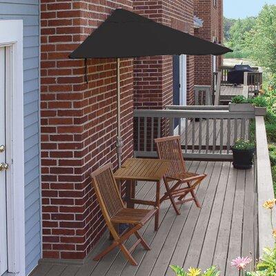 Terrace Mates Villa Deluxe 5 Piece Dining Set Color: Black Sunbrella