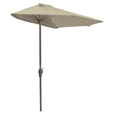 9' Off-The-Wall Brella Half Umbrella Fabric: Antique Beige - Sunbrella OTWB9S-AB