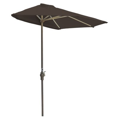 9 Off-The-Wall Brella Market Umbrella Fabric: Chocolate Olefin
