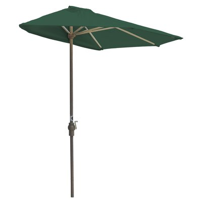 7.5 Off-The-Wall Brella Market Umbrella Fabric: Green - Sunbrella