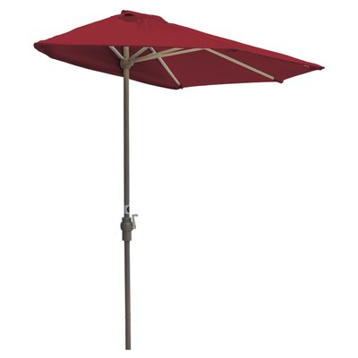 7.5 Off-The-Wall Brella Market Umbrella Fabric: Red - Sunbrella