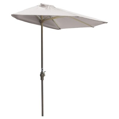 9 Off-The-Wall Brella Market Umbrella Fabric: Natural - SolarVista