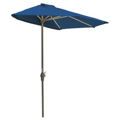 Blue Star Group 7.5' Off-The-Wall Brella Half Umbrella - Fabric: Red - Olefin