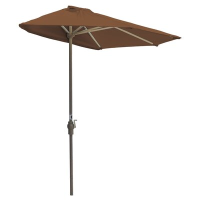 7.5 Off-The-Wall Brella Market Umbrella Fabric: Teak - Sunbrella