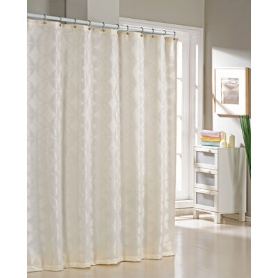 Bayonne Jacquard Shower Curtain Color: Ivory