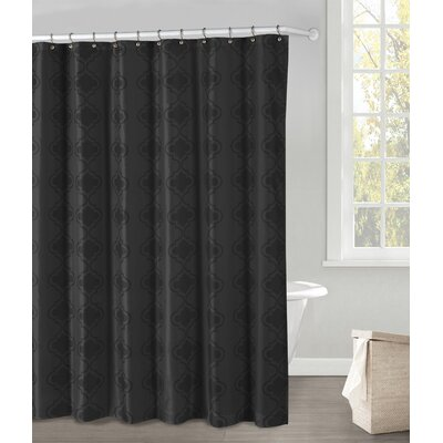 Hildebrandt Shower Curtain Color: Black