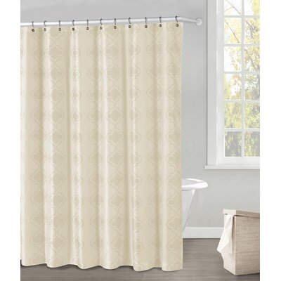 Hildebrandt Shower Curtain Color: Ivory