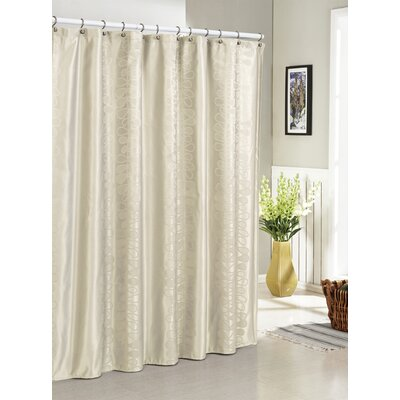 Hoyt Jacquard Shower Curtain Color: Ivory