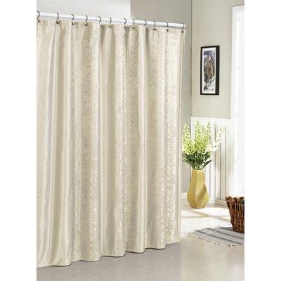 DR International Hoyt Jacquard Shower Curtain - Color: Ivory