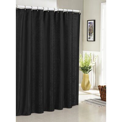 Hoyt Jacquard Shower Curtain Color: Black