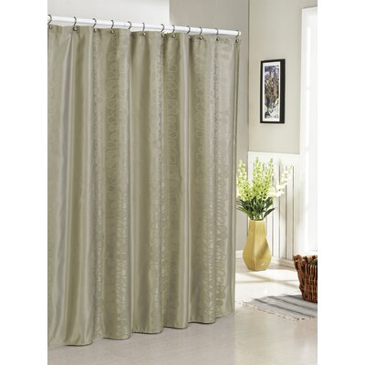 Hoyt Jacquard Shower Curtain Color: Taupe
