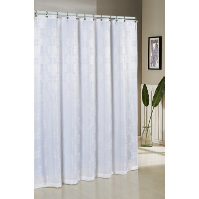 Lavalette Jacquard Shower Curtain Color: White
