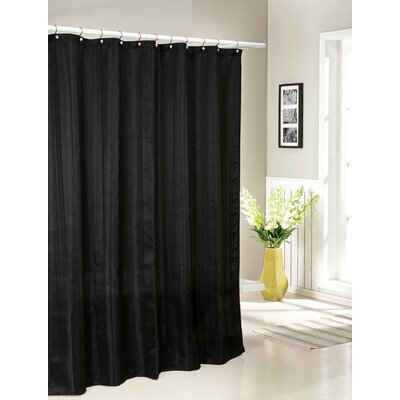 Laguna Jacquard Shower Curtain Color: Black