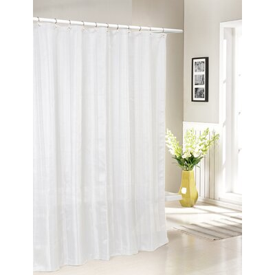 Laguna Jacquard Shower Curtain Color: White