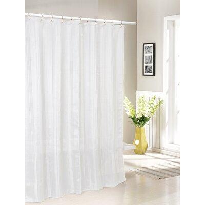 Laguna Jacquard Shower Curtain Color: White