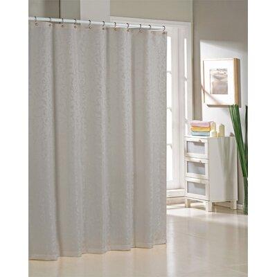 DR International Livingston Jacquard Shower Curtain - Color: Silver