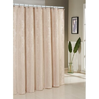 Ohlman Jacquard Shower Curtain Color: Beige