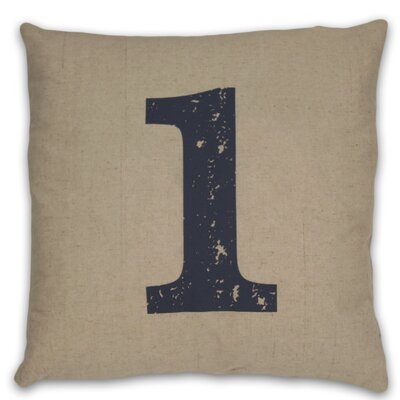 Numeral 1 Linen Throw Pillow