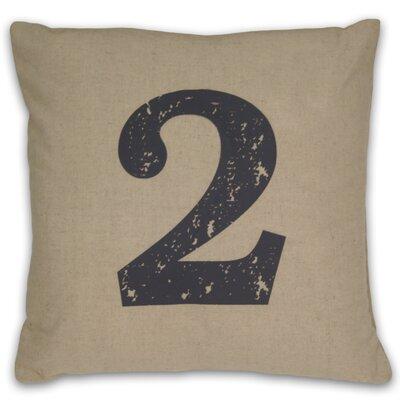 Numeral 2 Linen Throw Pillow