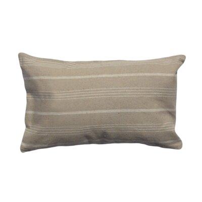 Venda Cotton Lumbar Pillow Color: Taupe