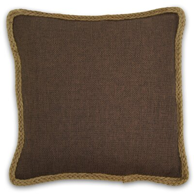 Kaya Throw Pillow Color: Chocolate