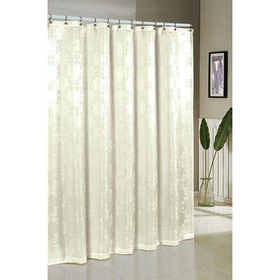 Lavalette Jacquard Shower Curtain Color: Ivory