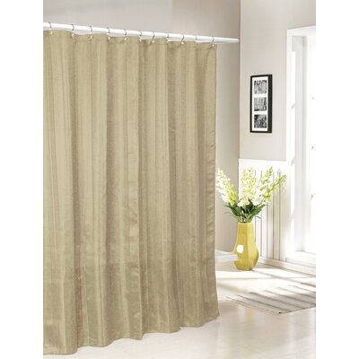 Laguna Jacquard Shower Curtain Color: Sand