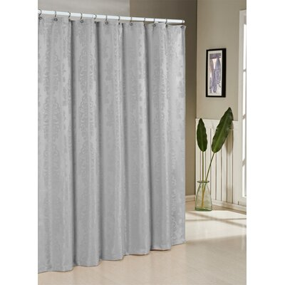 Parson Jacquard Shower Curtain Color: Silver