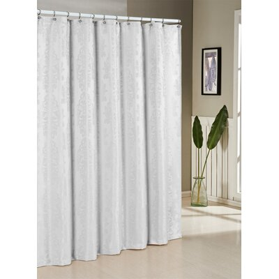 Parson Jacquard Shower Curtain Color: White