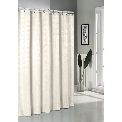 Schillman Shower Curtain Color: Ivory