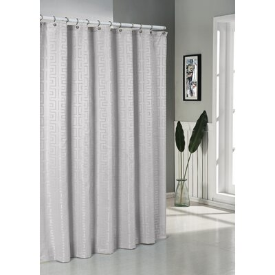 Schillman Shower Curtain Color: Silver