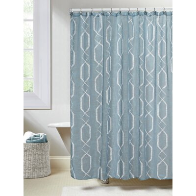 Arcadia Shower Curtain Color: Blue