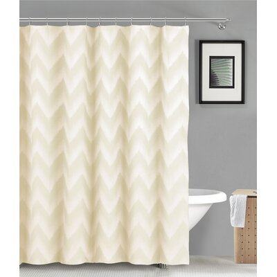 Maia Ikat Shower Curtain Color: Champagne