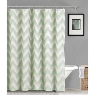 Maia Ikat Shower Curtain Color: Seafoam Green
