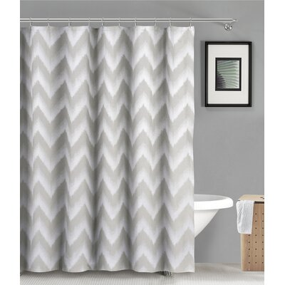 Maia Ikat Shower Curtain Color: Silver