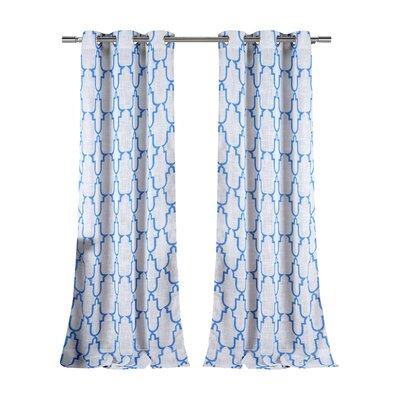 DR International Newburgh Linen Look Grommet Curtain Panels (Set of 2) - Color: Dazzling Blue