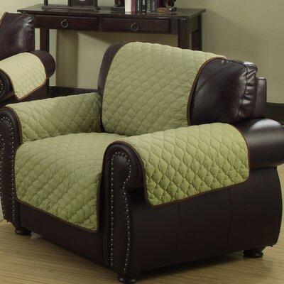 Rachel Armchair Cover Upholstery: Sage/Chocolate