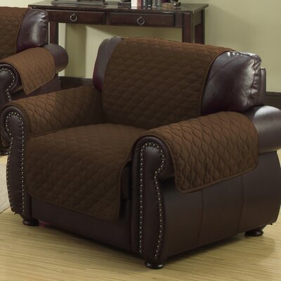 Rachel Armchair Cover Upholstery: Chocolate/Natural
