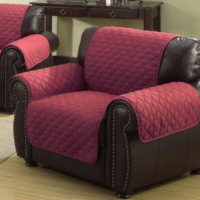 Rachel Armchair Cover Upholstery: Garnet/Natural