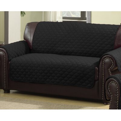 Rachel Box Cushion Loveseat Slipcover Upholstery: Silver/Black