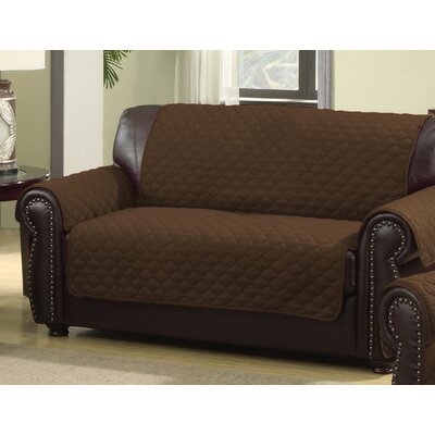 Rachel Loveseat Cover Upholstery: Chocolate/Natural