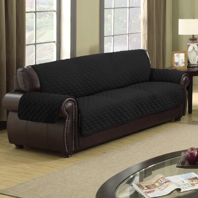 Rachel Box Cushion Sofa Slipcover Upholstery: Silver/Black