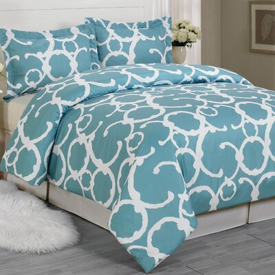 Margret 3 Piece King Duvet Cover Set
