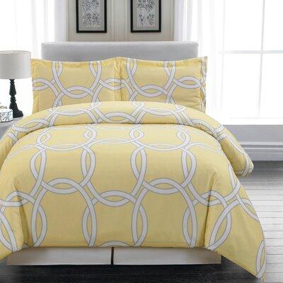Redington 3 Piece Full/Queen Duvet Cover Set Color: Yellow