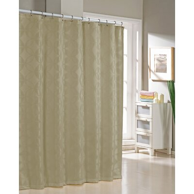 Bayonne Jacquard Shower Curtain Color: Taupe