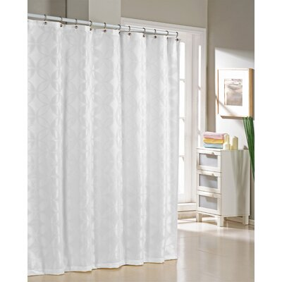 Bayonne Jacquard Shower Curtain Color: White